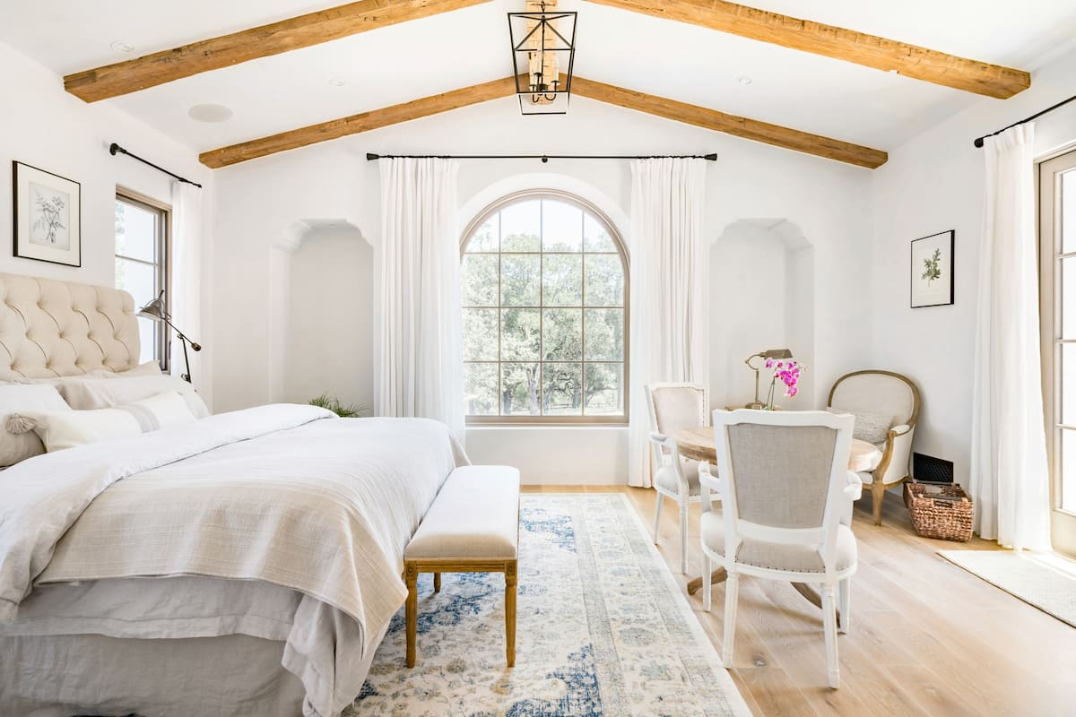 Romantic Rooms in a Spanish Mission Style Villa