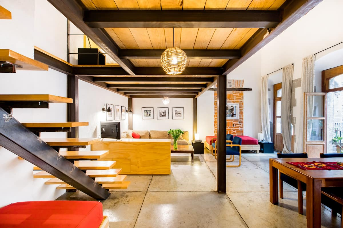 Feel the Magic of Mexico City from this Duplex Loft