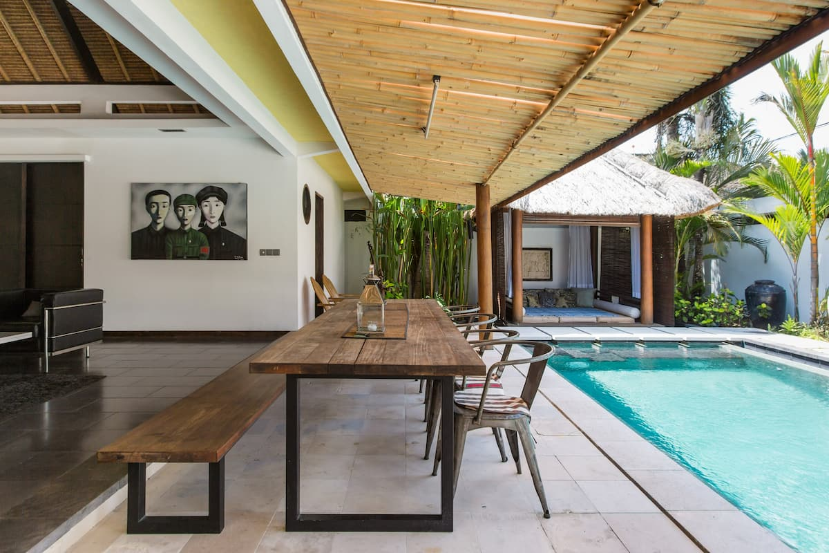Walk to Seminyak Shops from a Modern Villa with a Pool