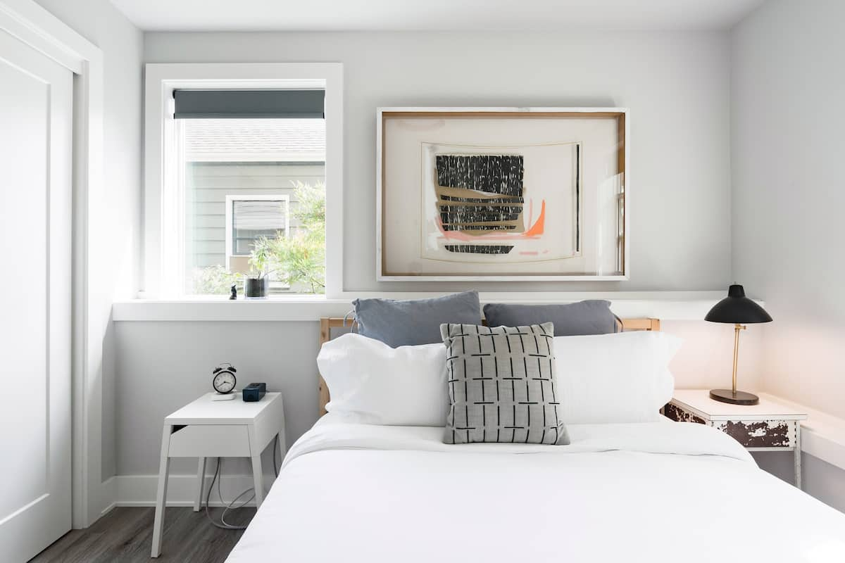 Decompress at a Soothing Suite in Shades of Elegant Gray
