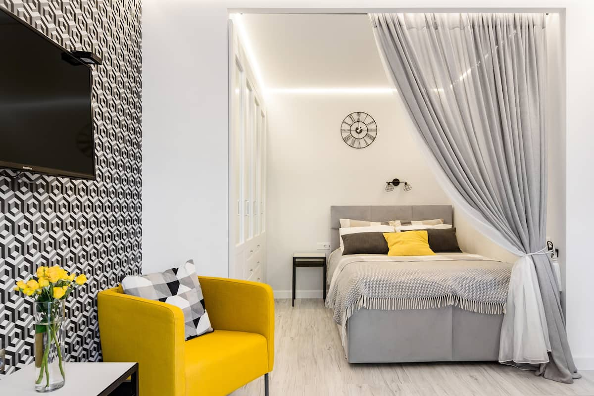 Admire Geometric Style at a Contemporary Loft Studio