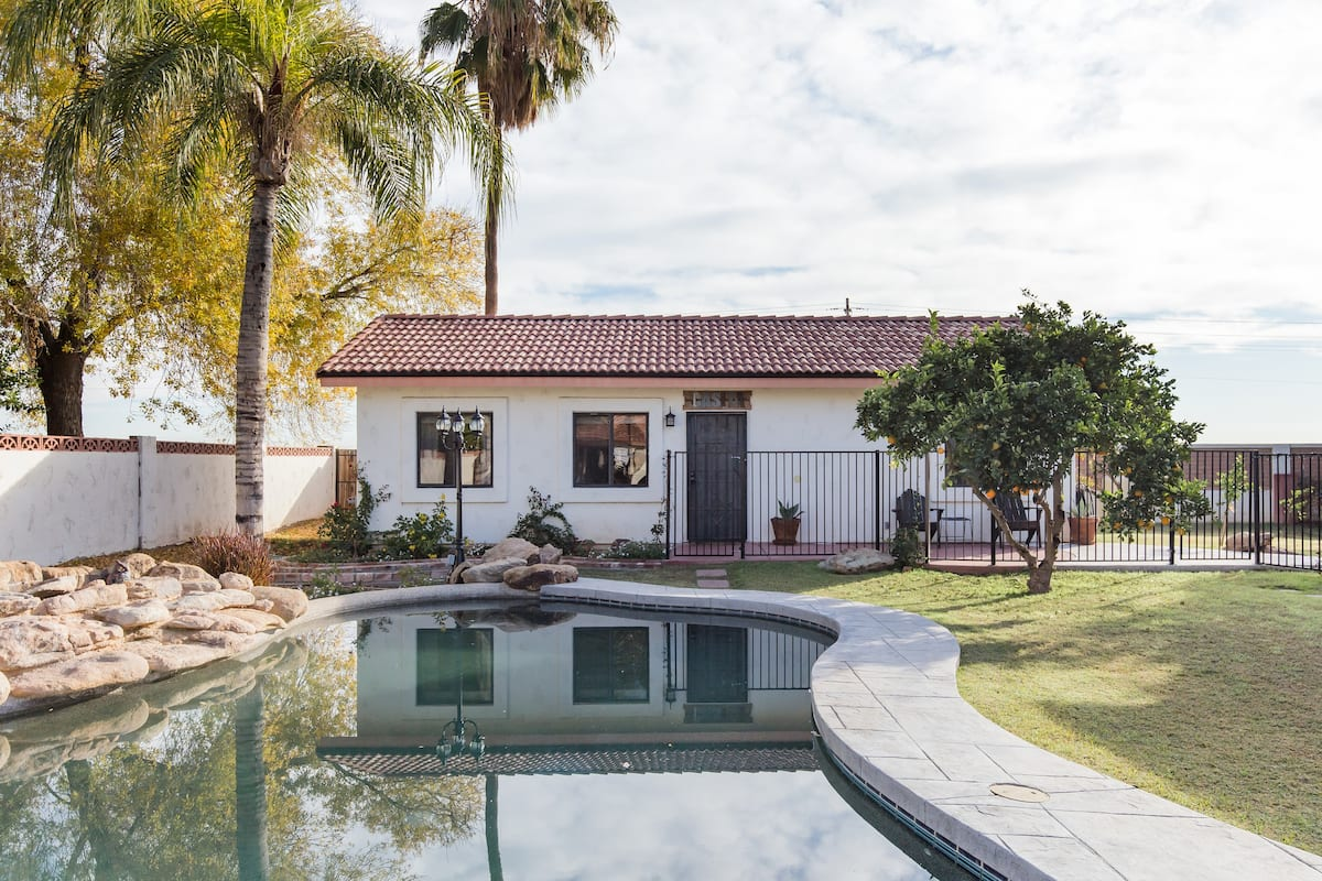 Laze in the Sun at a Bright Casita in a Sweet Citrus Grove
