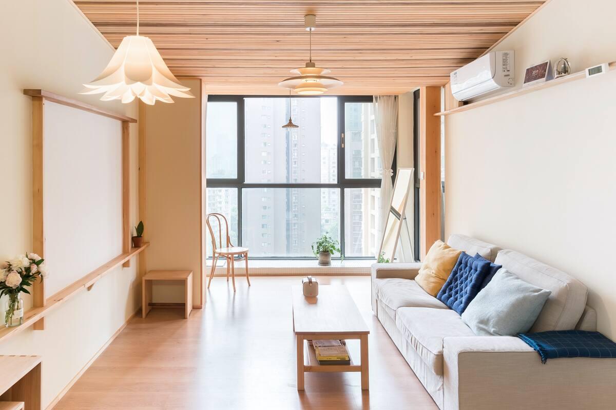 日式/人民公园/木质天花板/建筑师自宅/全屋手工原木家居