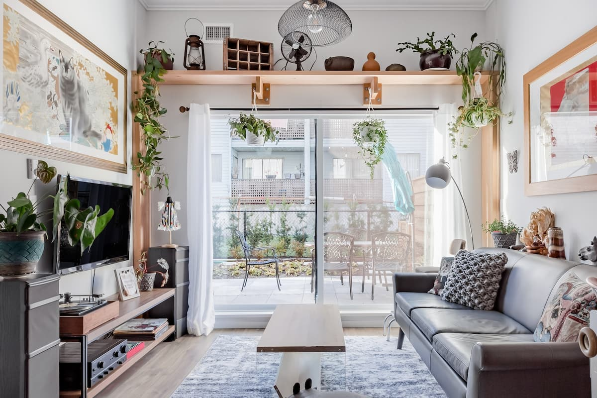 Eclectic Boho-Chic Apartment with Garden Patio
