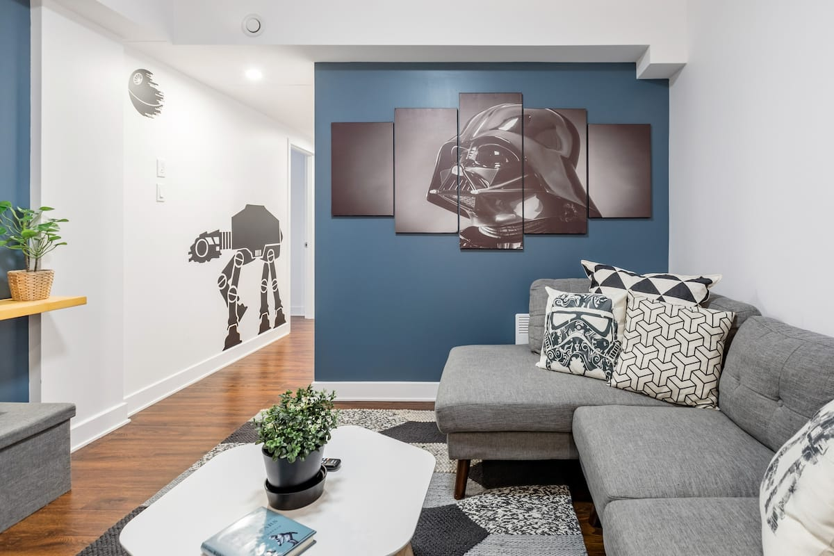 "Join the ""Dark Side"" of Montreal in our Star Wars apartment next to Old Port"