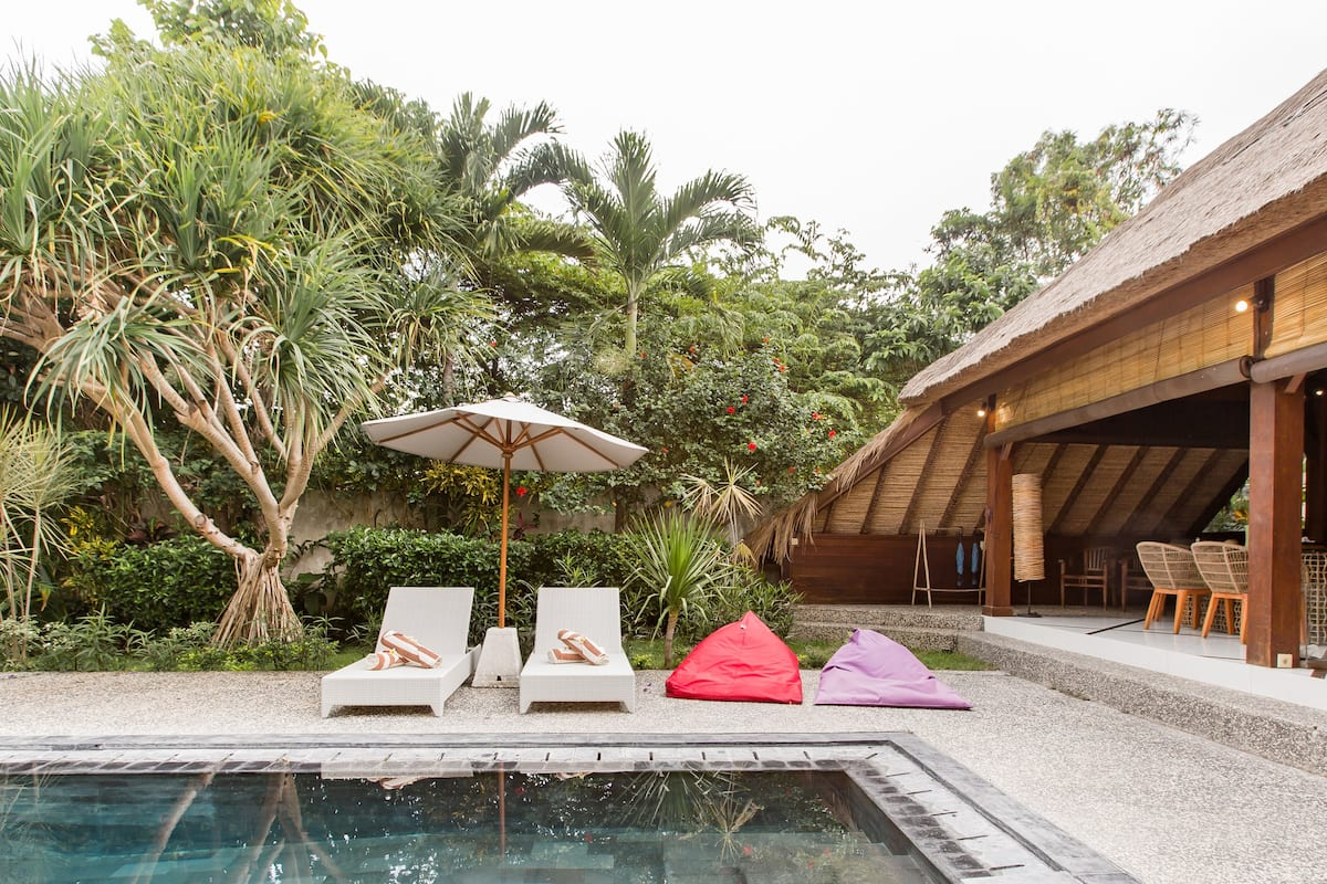 Timber-Framed Villa with a Pool and Garden in Canggu