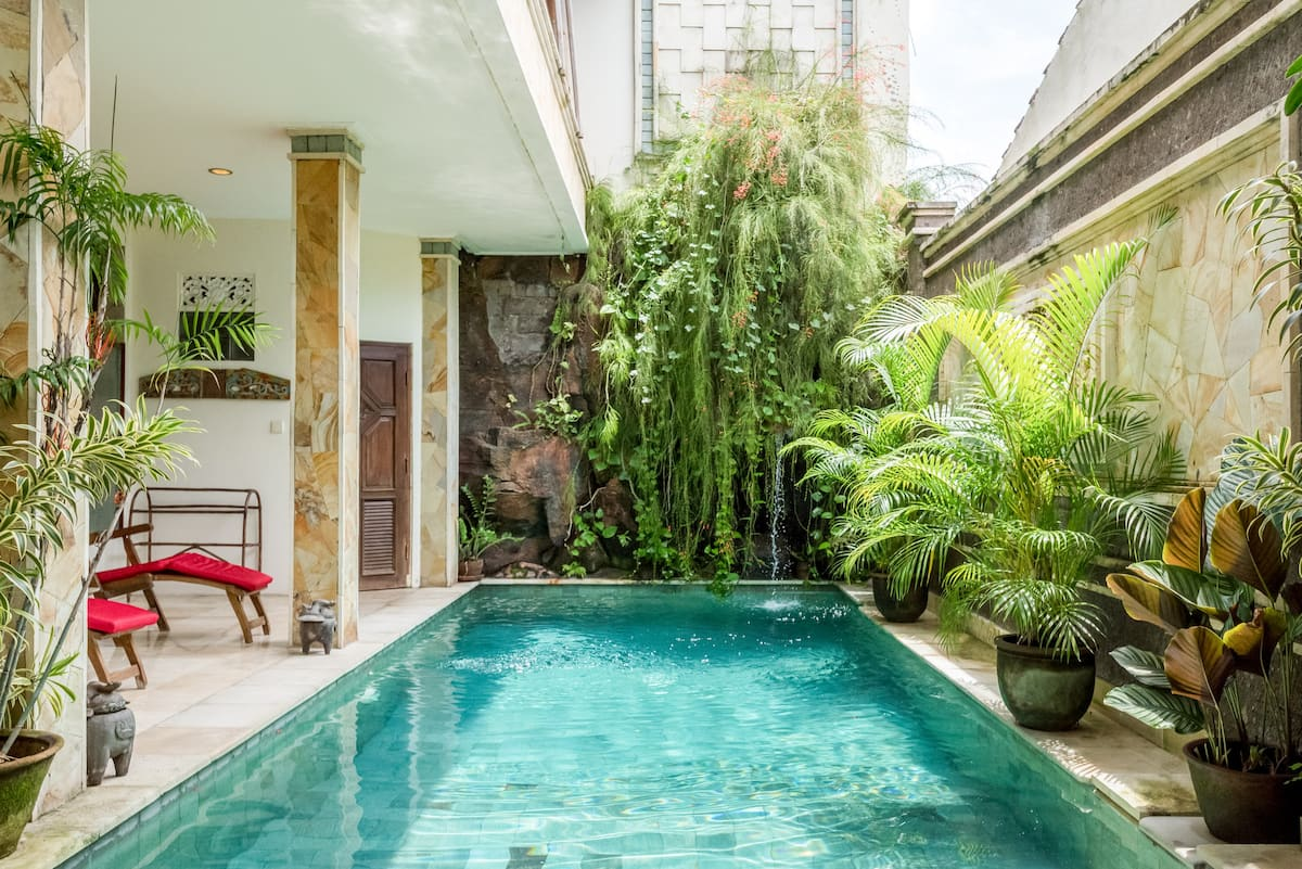 Stroll to Sanur Beach from a Fully Staffed Family Villa