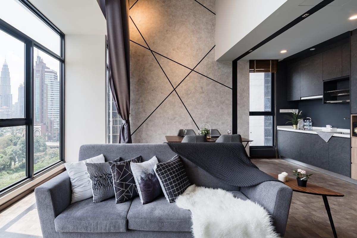 Wake up to 360-Degree Skyline Views at a Chic Urban Loft