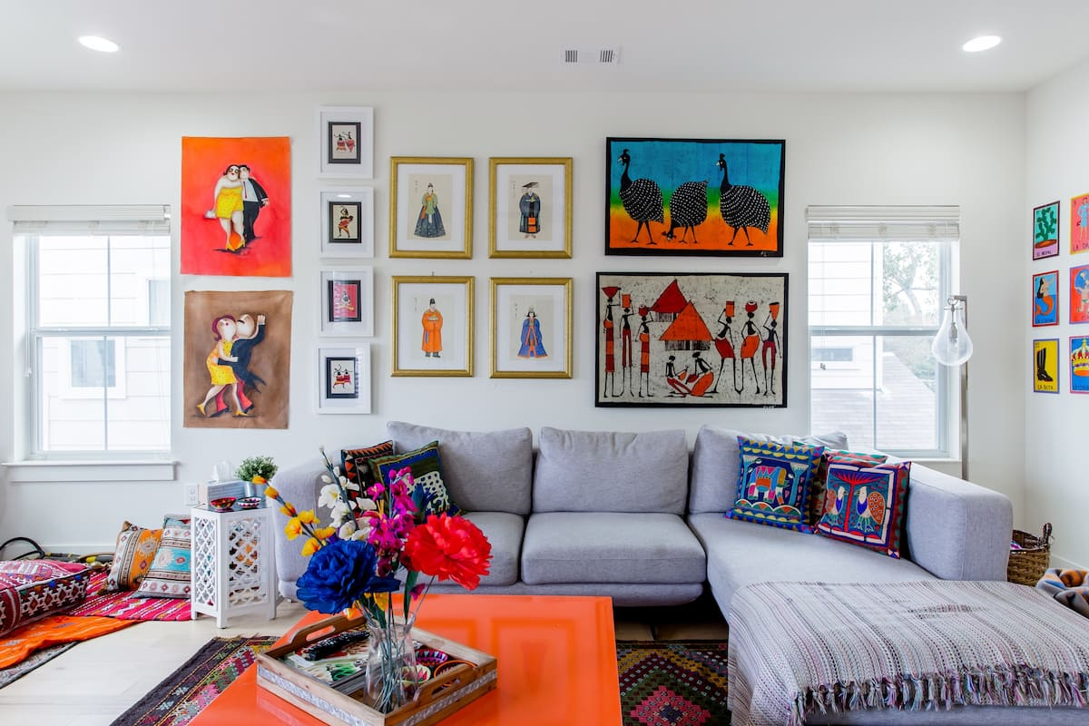 Colorful, Art-Filled East Austin Town-home