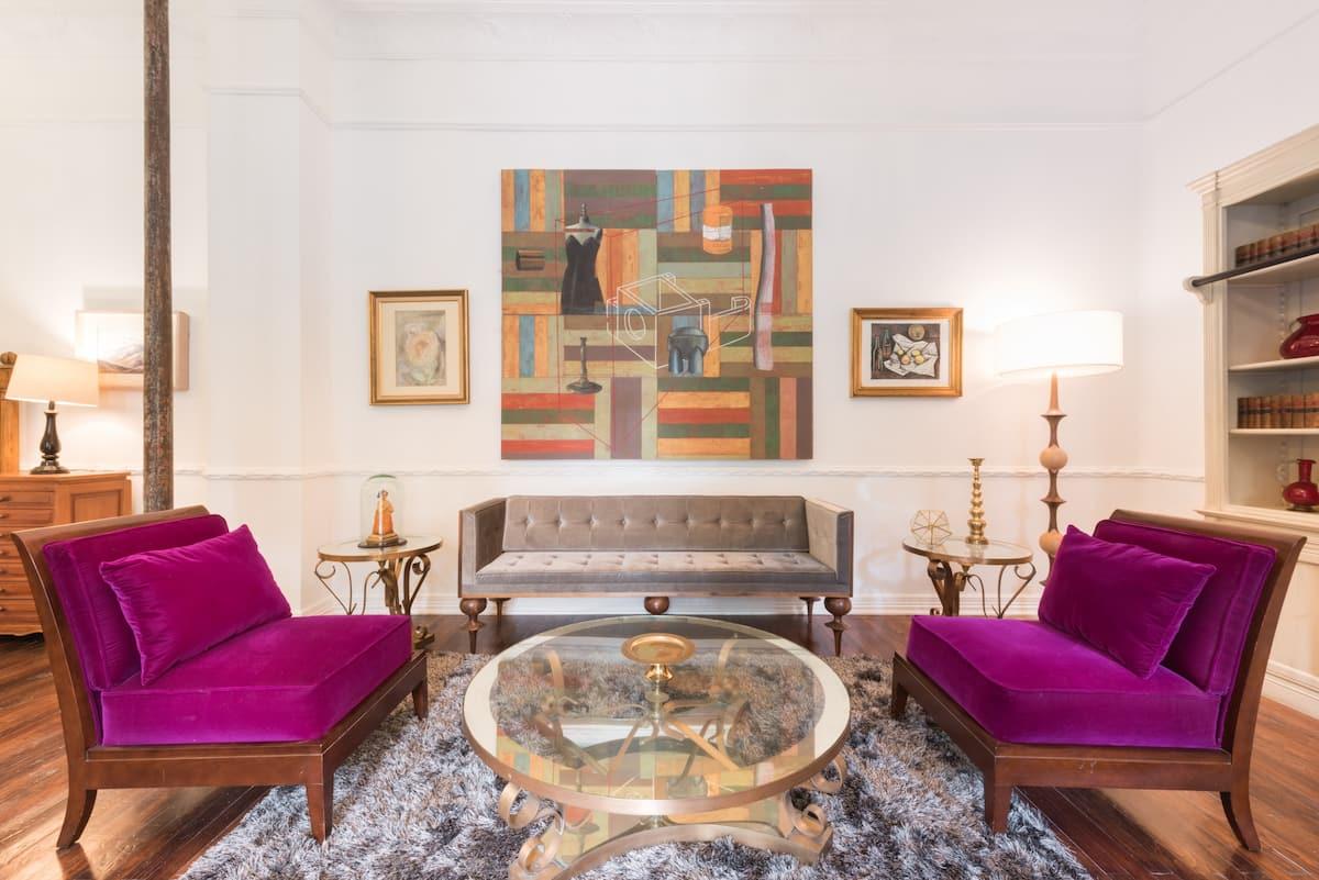 Gran habitación con sala privada en Casa Mariscal