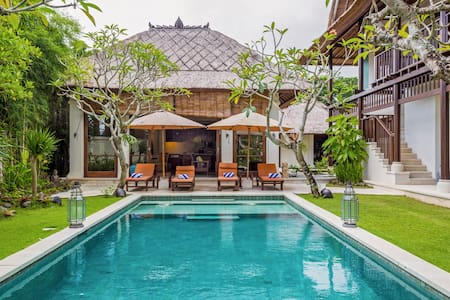 Walk to Jimbaran Beach from a Spacious Designer Villa