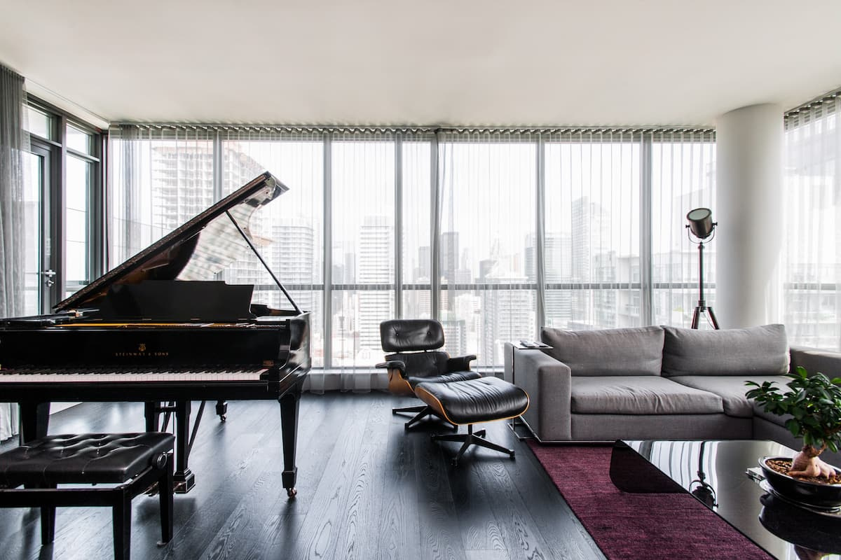 Chic Penthouse With a Baby Grand Piano and Balcony
