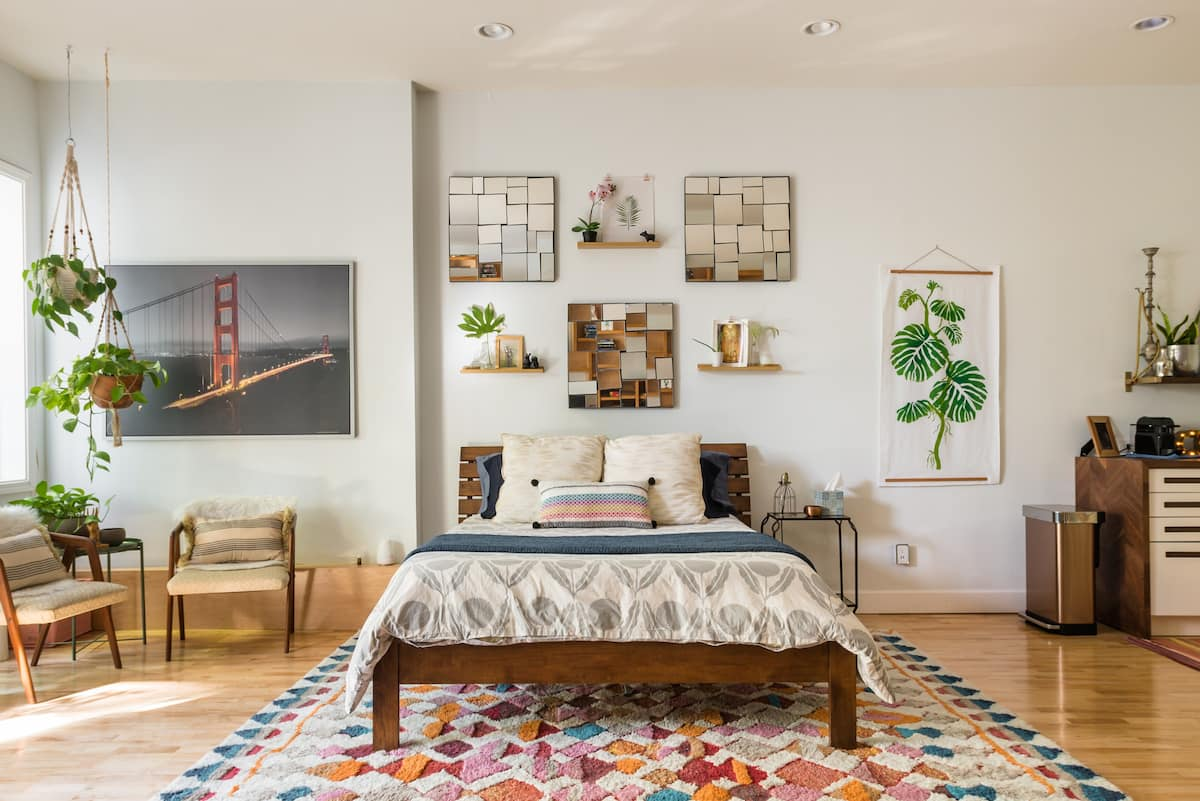Gigantic Private Guest Suite with Colorful Bohemian Charm