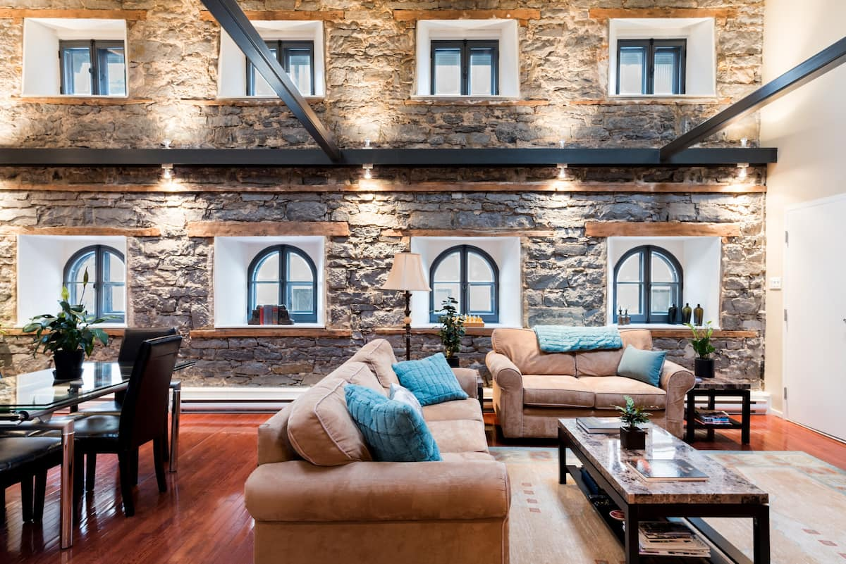 Historic Loft with Magnificent Stone Walls in Old Montreal