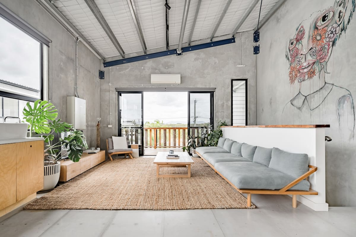 Artful Warehouse Conversion With Views of Mount Warning