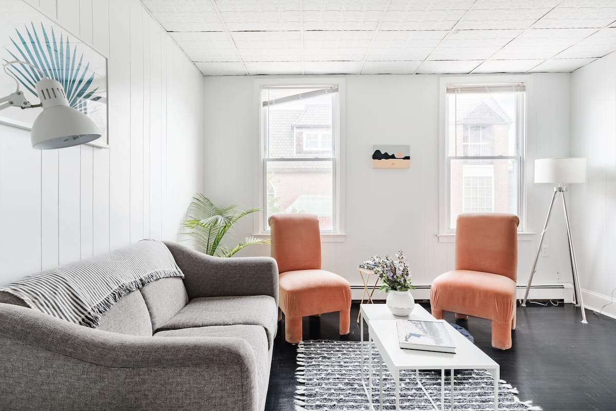 Soak up the Light at a Chic Pad Just 1 block from Beaches