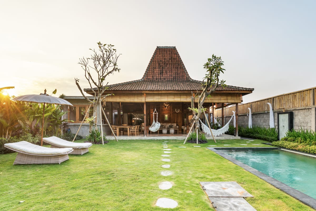 Walk to Echo Beach from a Charming Villa with a Pool