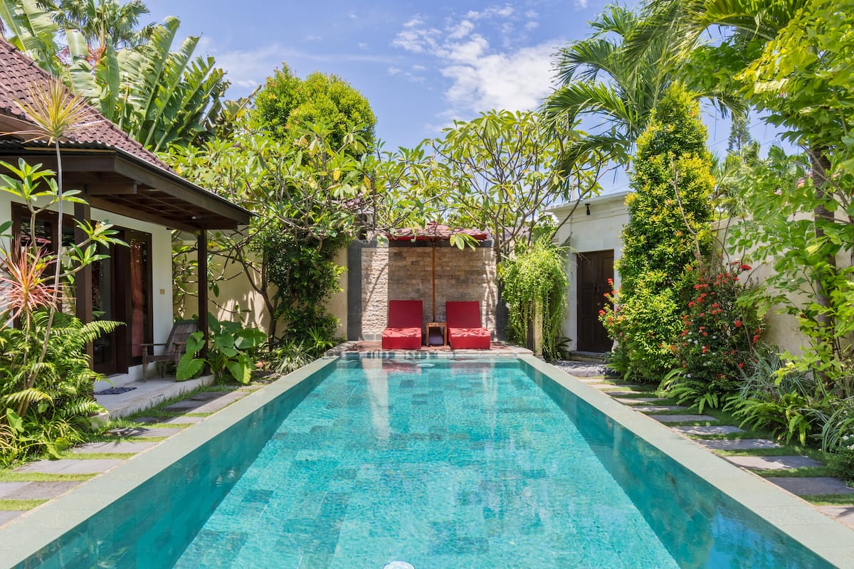 Lounge Poolside at a Hidden Paradise Home