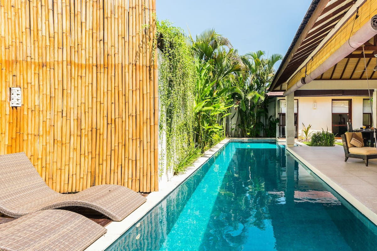 Stroll to Beaches from a Sunny Seminyak Villa with a Pool
