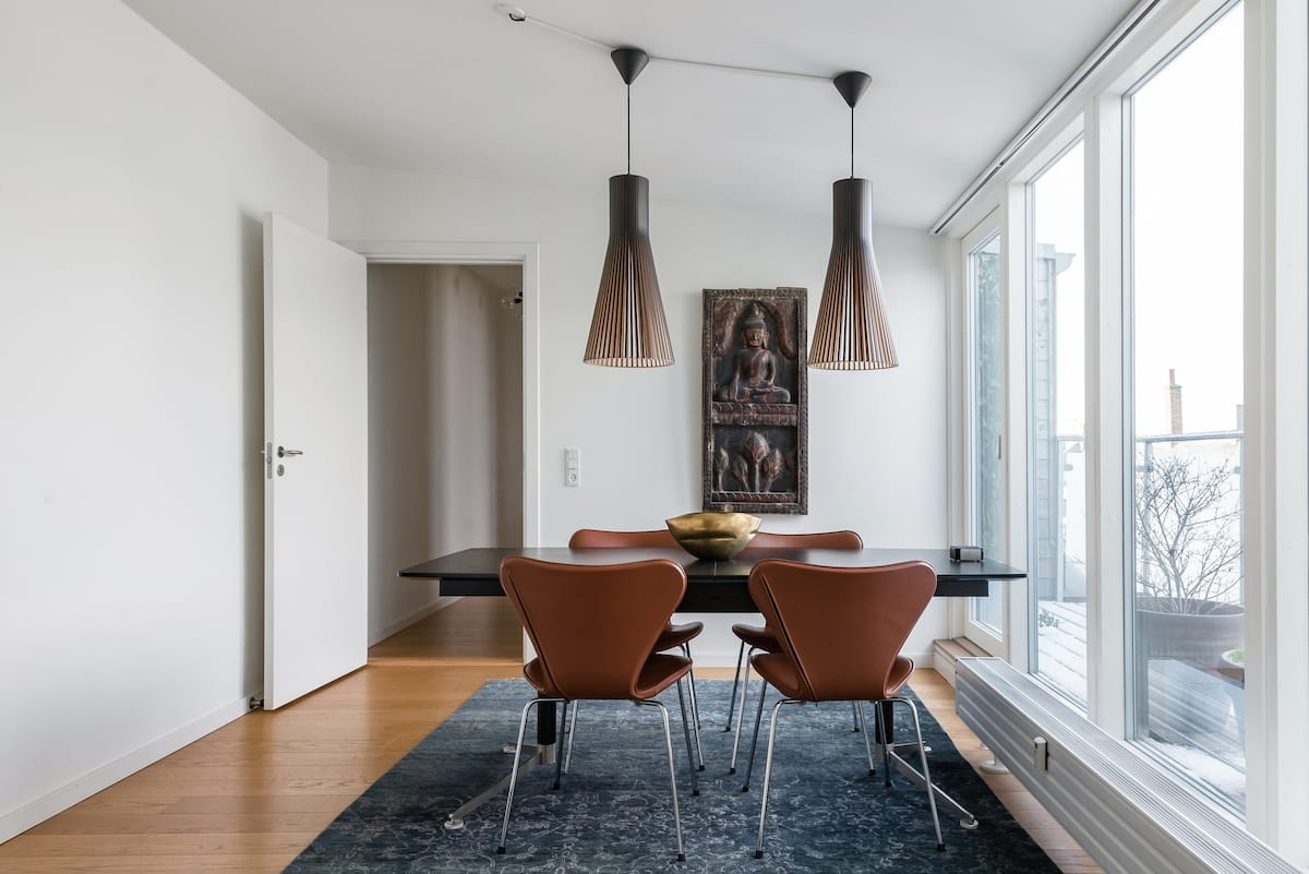 Explore Historical Parks from a Central Copenhagen Penthouse