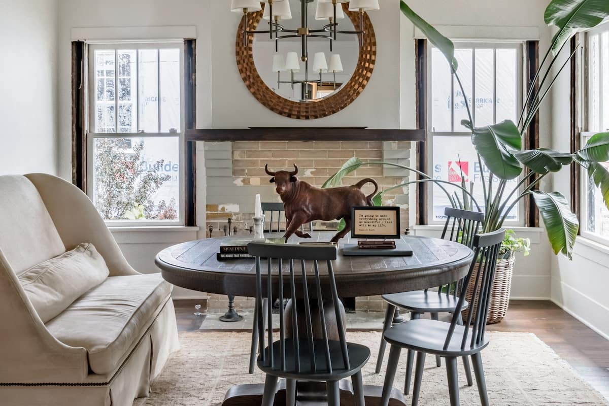Renovated 1920s Craftsman with Homey, Neutral Style