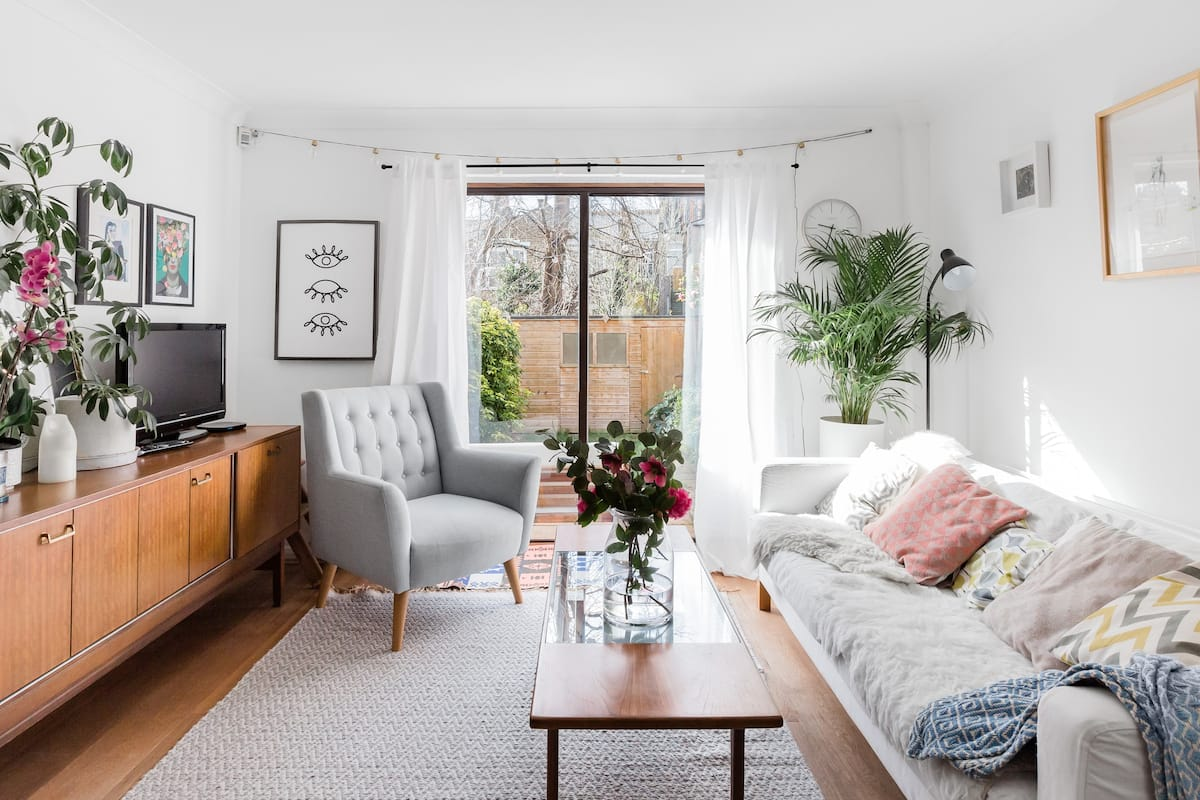 Mid-century & Botanical Style in a London Home with Garden