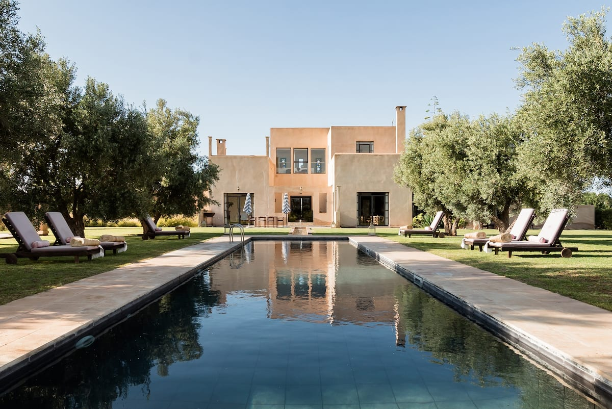 See Mountains From the Terrace of a Grand Artistic Villa