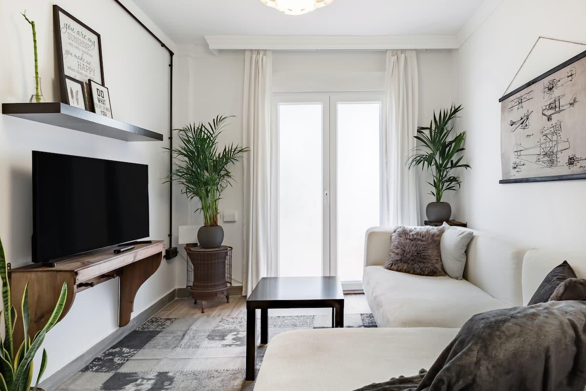 Bonito diseño en piso de dos dormitorios. Palacios Congresos.