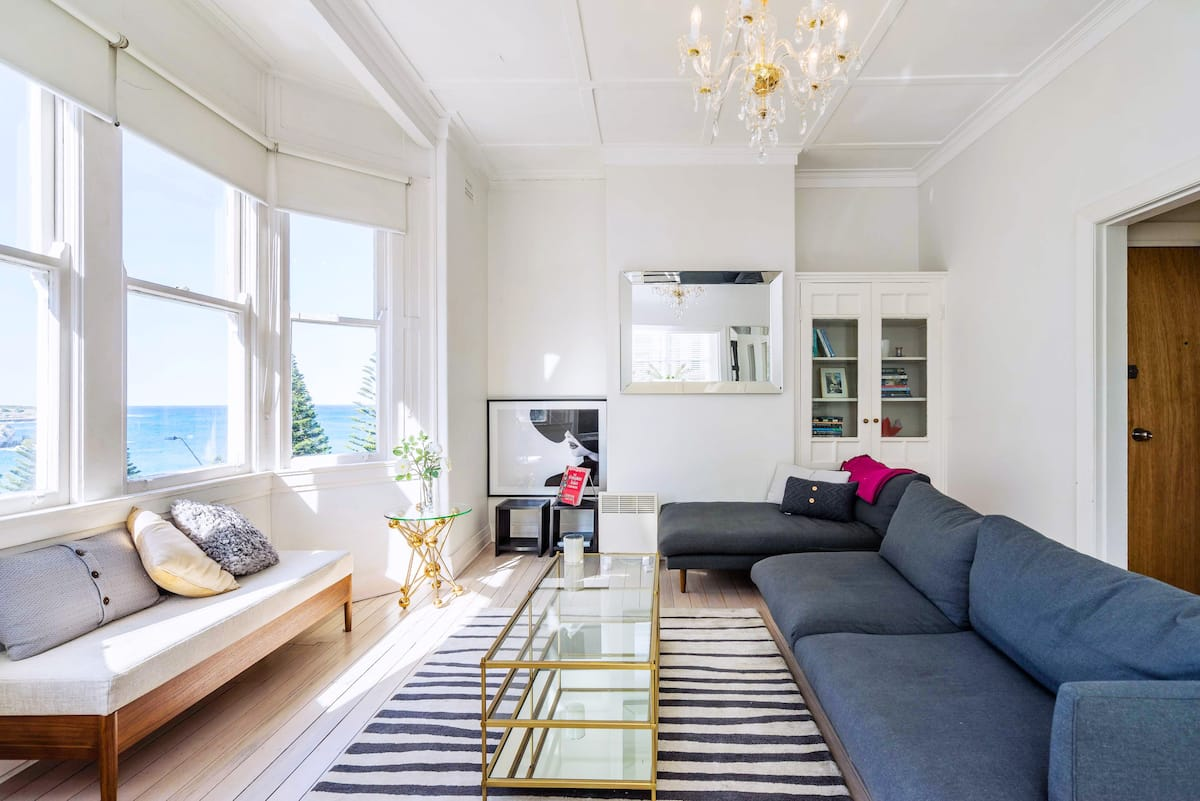 Beachside Living in a Luxe Art Deco Apartment