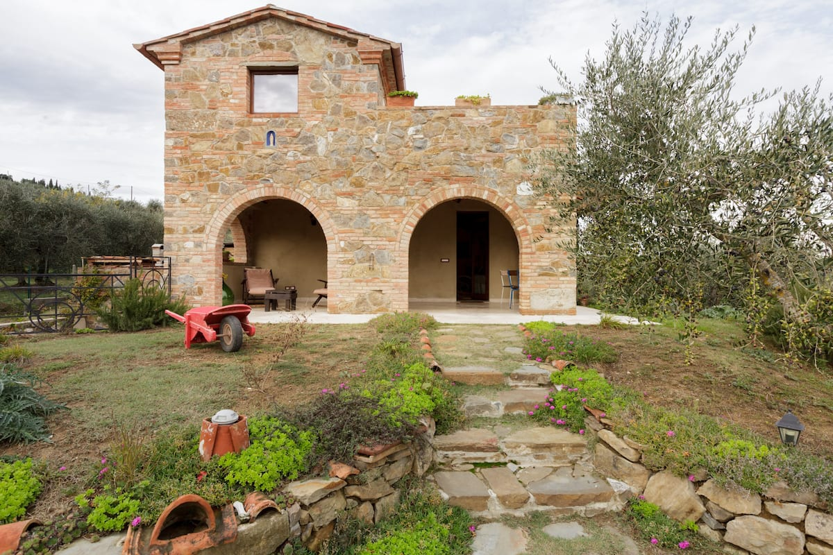 Explore Chianti Country from a Colorful Hillside House