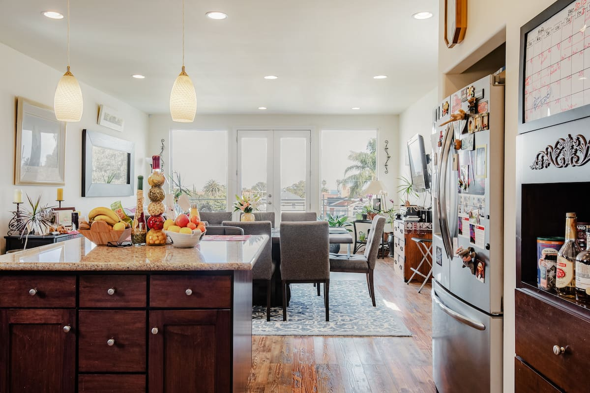 View the Harbor Lights From Stylish Beach Retreat