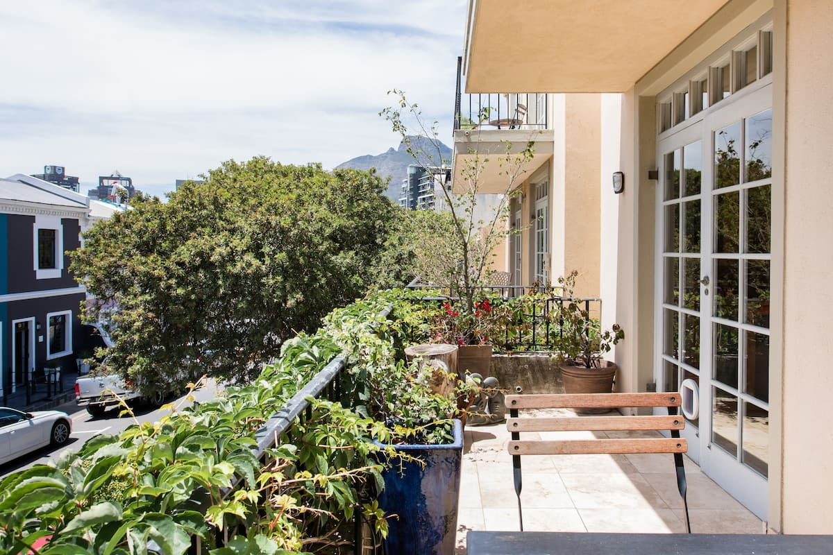 Eat Breakfast in the Sun on the Secluded, Leafy Balcony