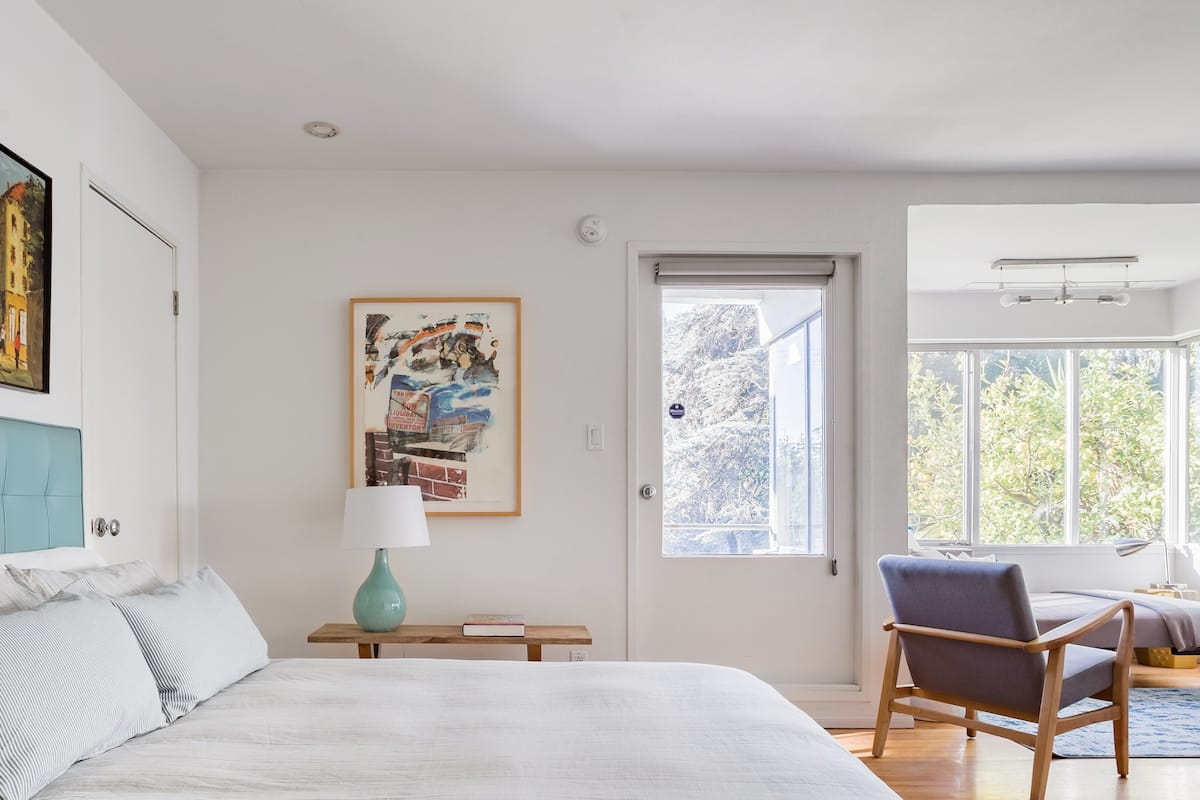 Retro Silver Lake Studio with a Solar-Heated Pool