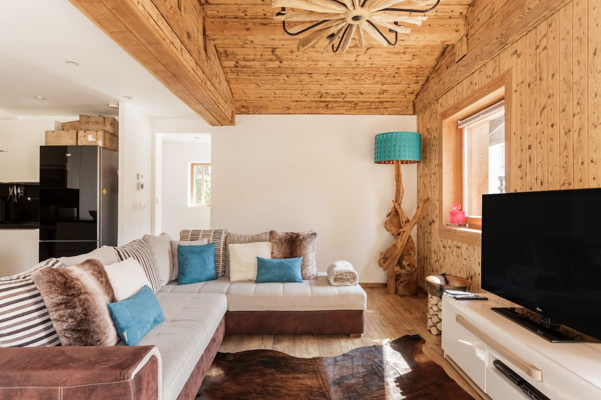 Chalet with Spectacular Views of Mont Blanc