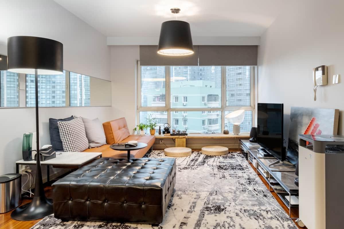 世贸天阶侨福芳草地附近的中式风情的现代高级公寓