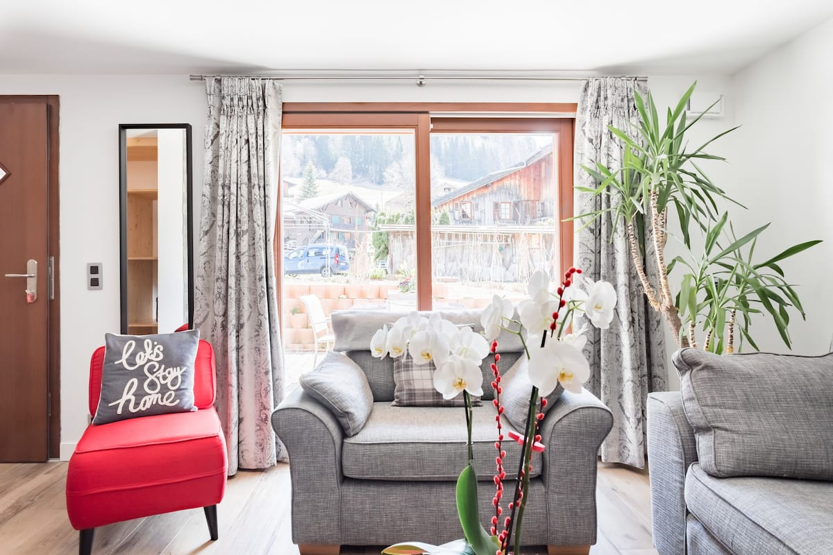 Admire Snowy Peaks from Our Tranquil, Stylish Apartment