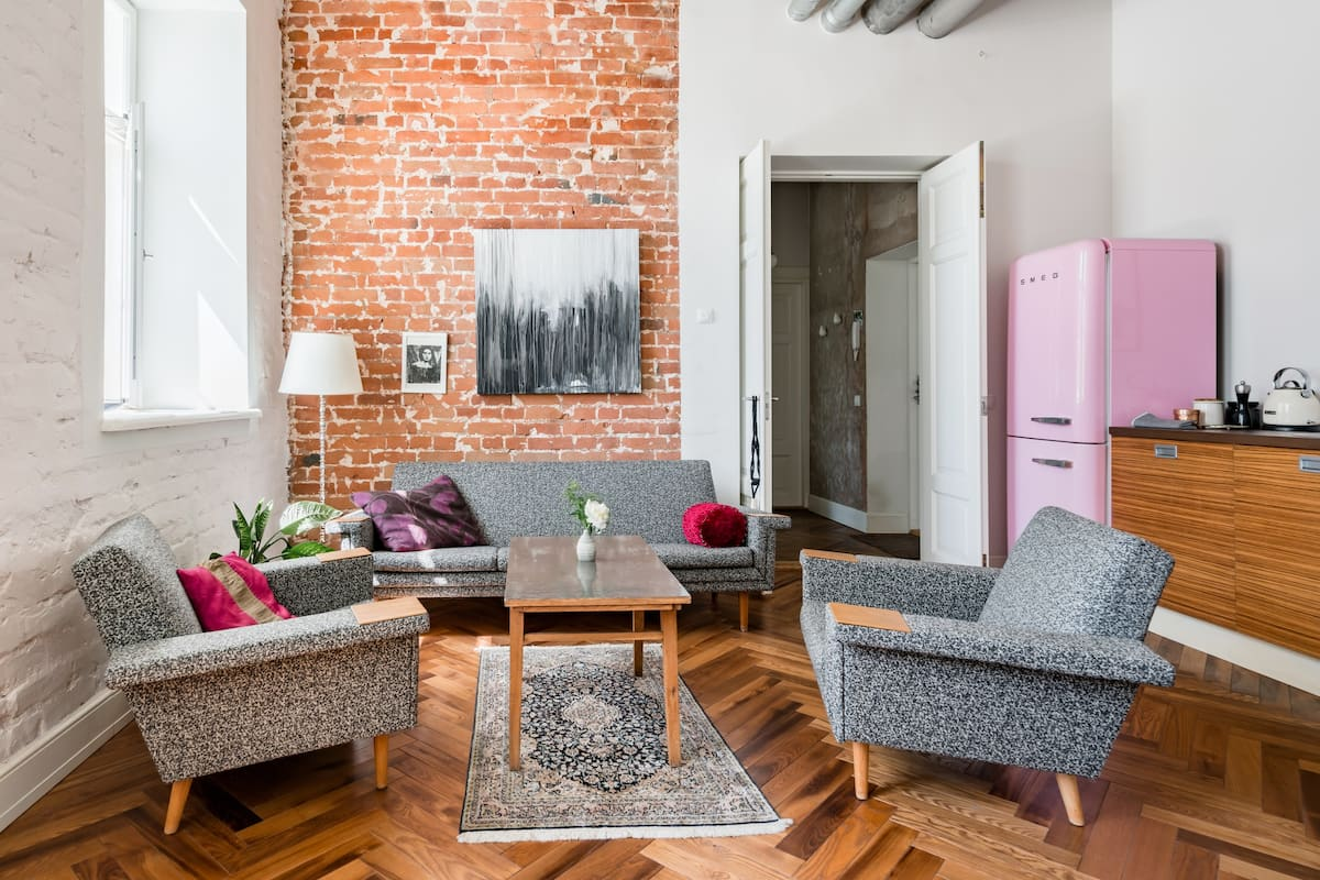 Sun-Filled and Quiet Renovated Loft in Vibrant Kalamaja