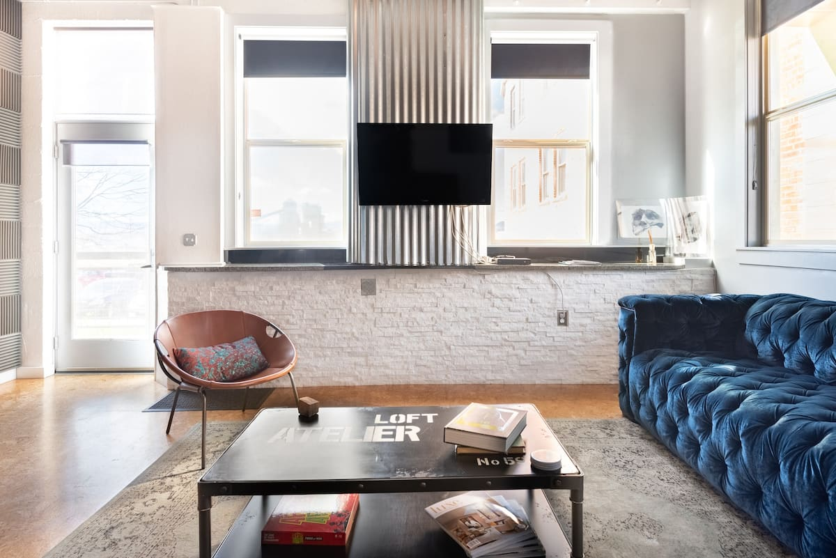 See Downtown Denver from a Designer Loft