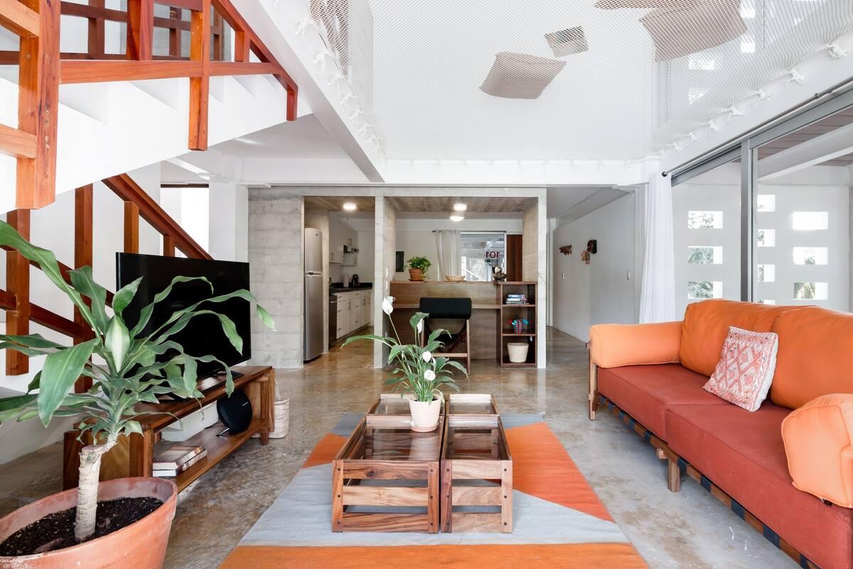 Spectacular Split Level Apartment with Amazing and Unique Giant Hammock
