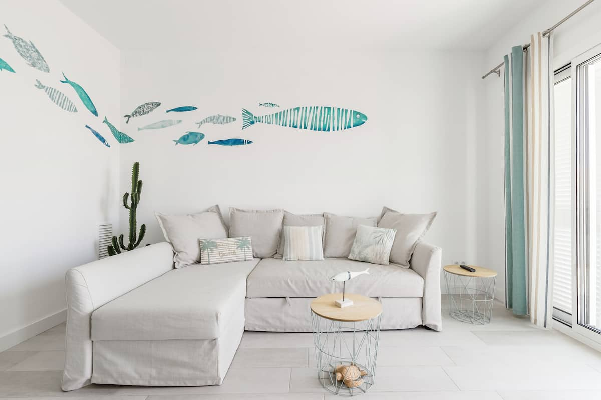 MAR SALADA—Remodeled Sitges Apartment Seconds From Beach