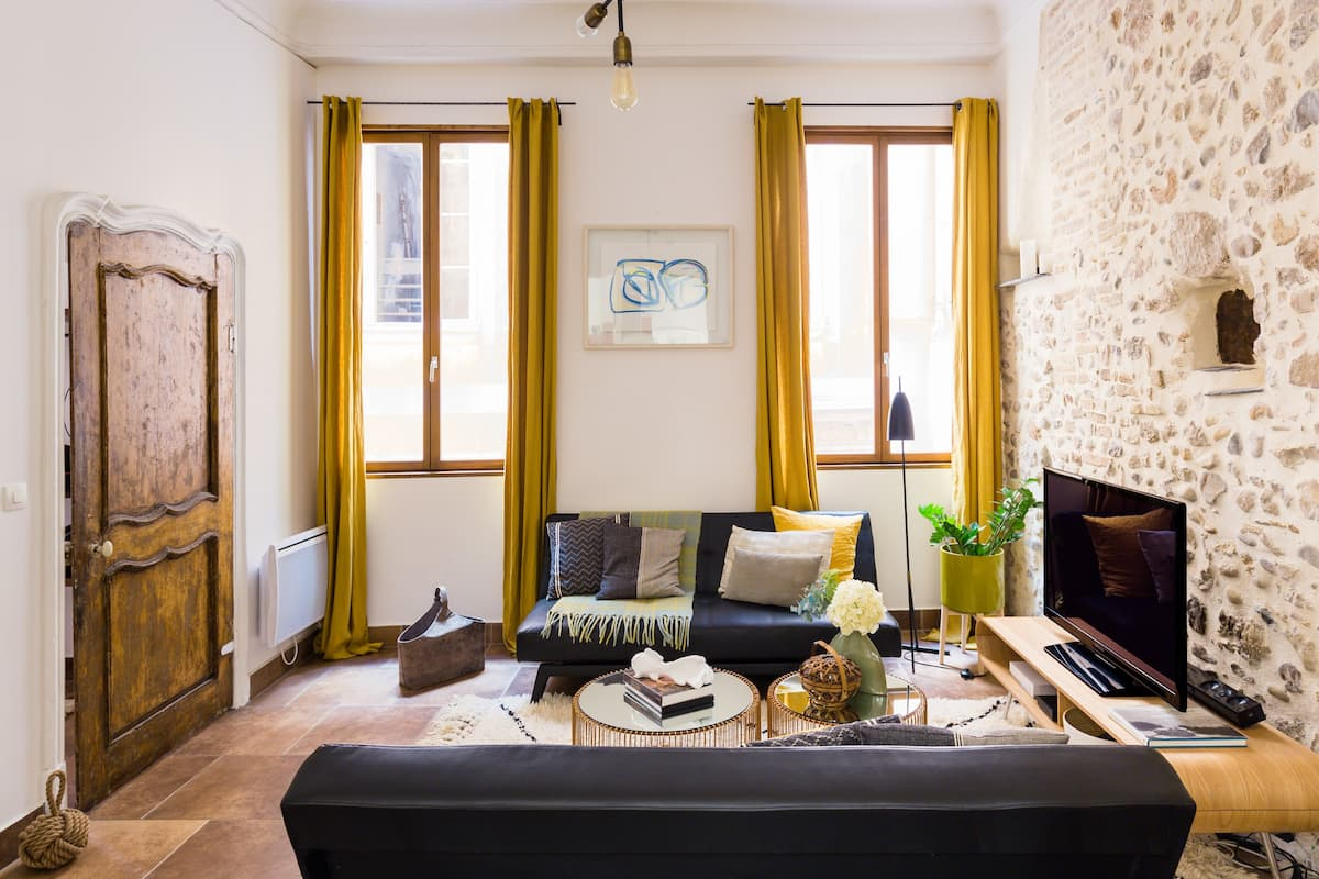 Explore the Old Town from a Charming, Stone-walled Apartment
