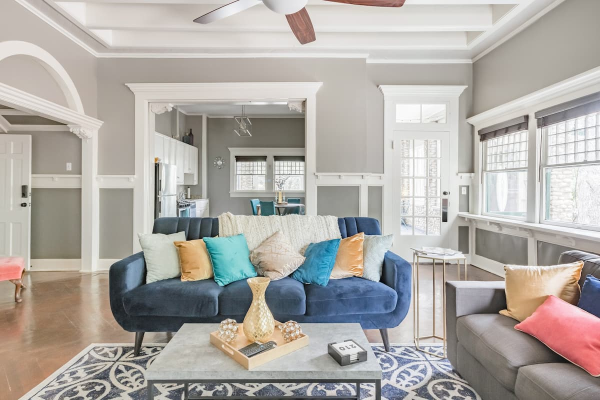 Retro-Inspired Apartment in Updated Historic Home