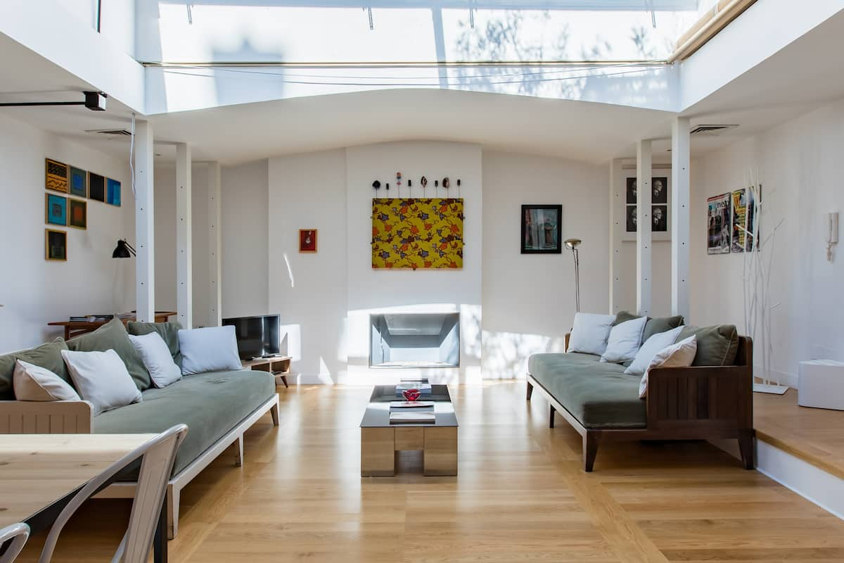 Art Collector's Skylight Penthouse with Terrace Oasis