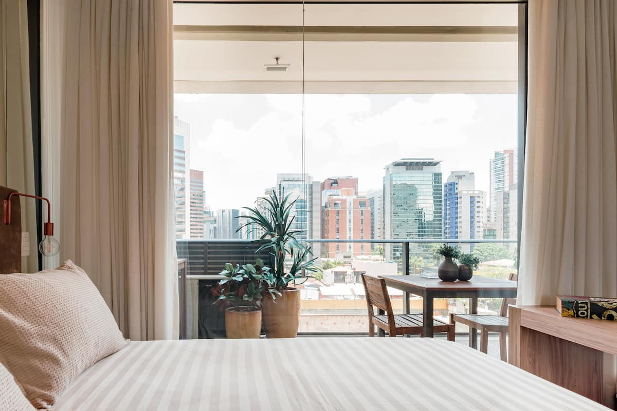 Stylish Studio Suite Surrounded by Skyline