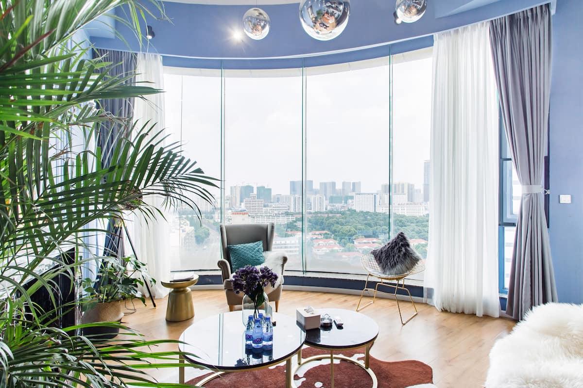 境悦微澜-夏栀--冰蓝/loft美学设计/超大观景落地窗