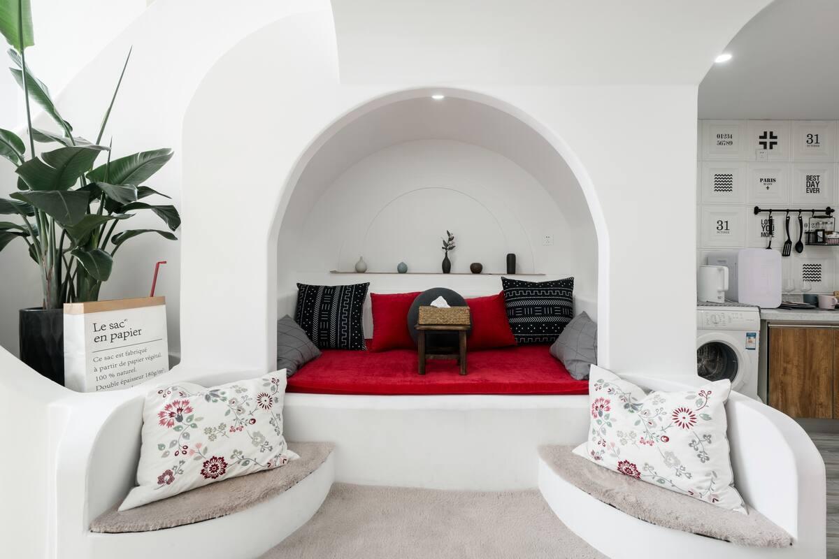 太古里/春熙路/九眼桥/地铁口/基克拉迪风格复式公寓,感受迷人的希腊风情