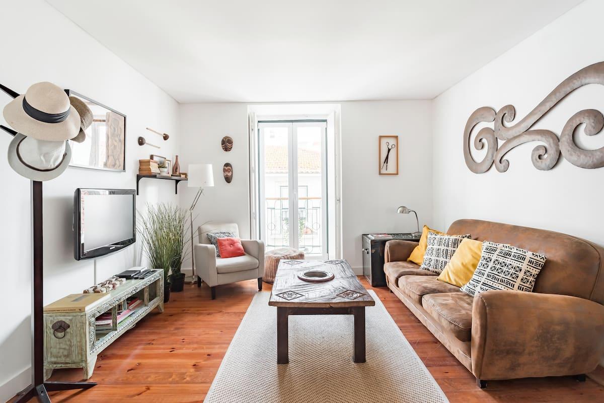 Eclettico appartamento nel quartiere trendy di Principe Real