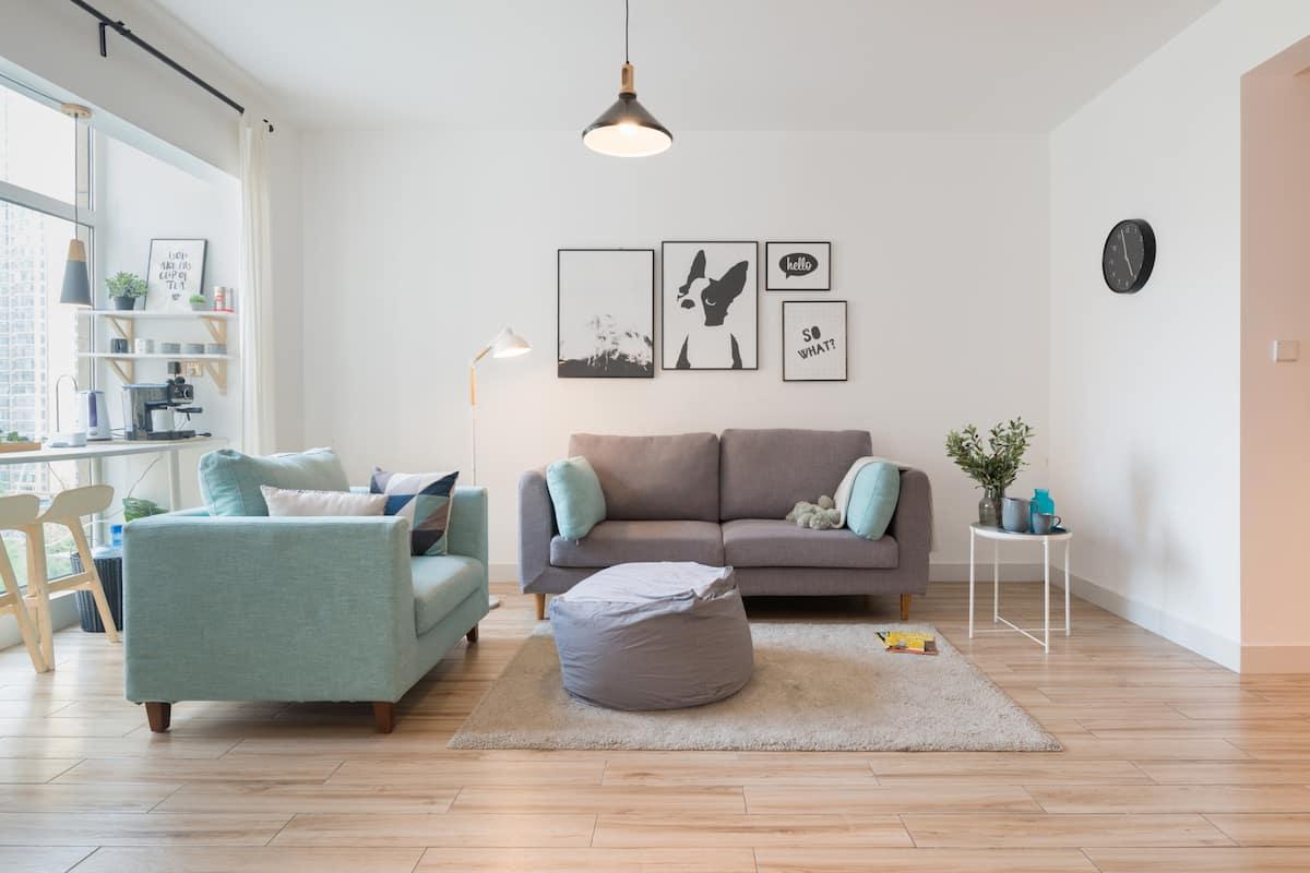 像自家一样干净整洁便利的成都市世纪城新会展北欧风舒适公寓