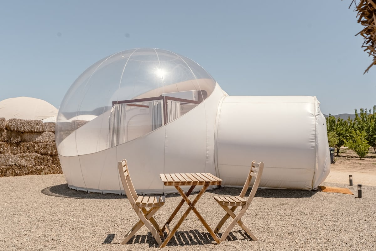 Glamping With a Difference at Campera Hotel Bubble Suite 3