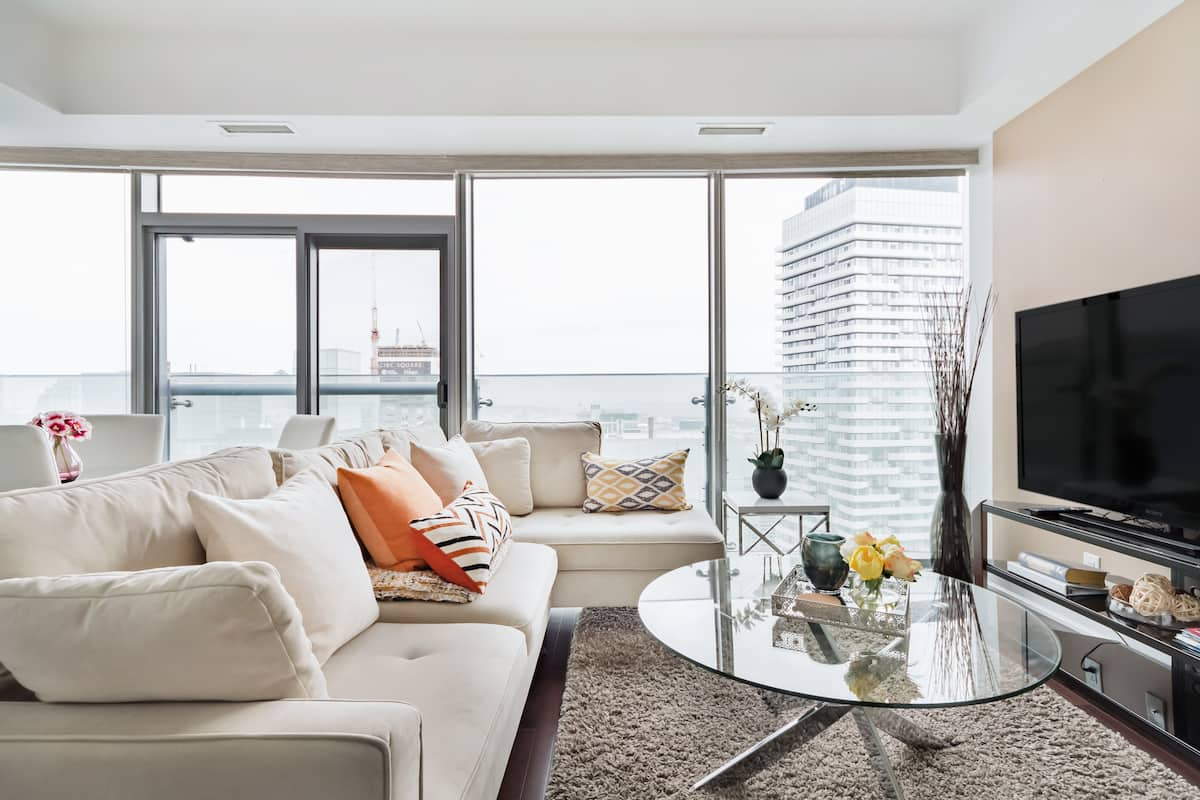 Look Out to Lake From Luxurious Condo Suite in Downtown Core
